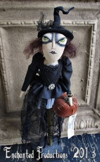 Pfatt Primitive Folk Art Halloween Witch Doll by Joyce Stahl Ehag