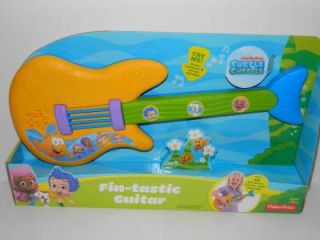 Bubble Guppies Fin Tastic Guitar Fisher Price Toddler Musical 20 Phrase Toy New
