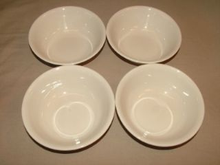 4 Corelle Textured Leaves Berry Dessert Bowls Lot Dish Dishes Tan Green