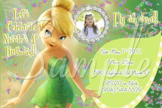 Tinkerbell Custom Birthday Party Invitations You Print Unlimited Digital Fast