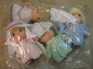 Precious Moments Nativity Dolls Baby Babies Set of Four New