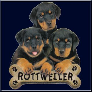 Rottweiler Puppies Dog Breed Bone Sweatshirt s 2X 3X 4X