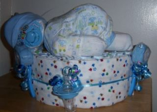 Baby Shower Diaper Baby Cake Adorable Diaper Baby Diaper Cake