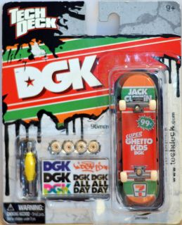 Tech Deck 96 mm DGK Finger Board Skateboard 7 11 Colours Super Ghetto Kids