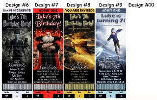 Rise of The Guardians Movie Birthday Party Ticket Invitations Supplies Favors