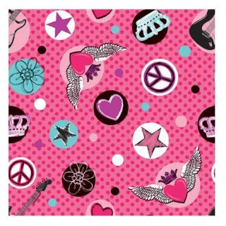 Rocker Princess Gift Wrapping Paper Celebrations Parties Birthday 12 5 Sq Ft