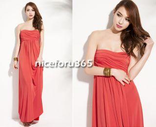 N4U8 Women Strapless Dresses Gown Evening Dinner Cocktail Party Long Maxi Dress