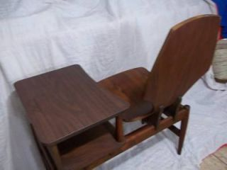 Mid Century Modern Bentwood Telephone Chair Gossip Bench Great Condition