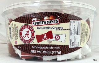 Alabama Crimson Tide Sports Mints Buttermint Creams Mint Bama Roll Sport Sec