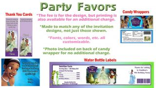 Tiana Princess and Frog Birthday Party Ticket Invitations Favors Supplies