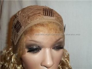 """CLEARANCE Deal 14"""" Water Wave Synthetic French Lace Front Wig Blonde F2217"""