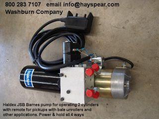 Haldex 12 Volt Hydraulic Pump 2 Cylinders JSB Barnes