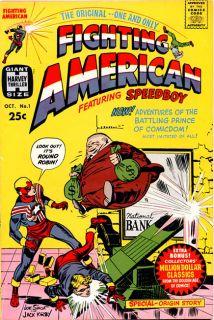 Fighting American Pin Up Jack Kirby Doug Hazlewood 11 x 17 Original Art
