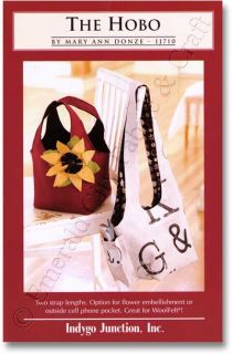 Indygo Junction Hobo Bag Purse Tote Sewing Pattern New