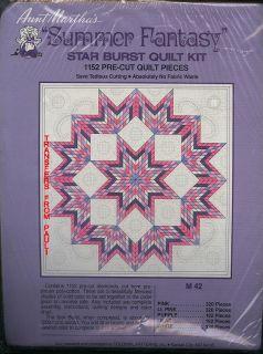 Summer Fantasy Star Burst Quilt Kit 1 152 Precut Pieces