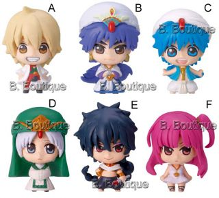 Magi Labyrinth of Magic Chara Fortune STRAPX1 Aladdin Jafar Sinbad Judal Alibaba