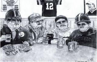 Da Super Fans Poster SNL Chris Farley Steelers Version