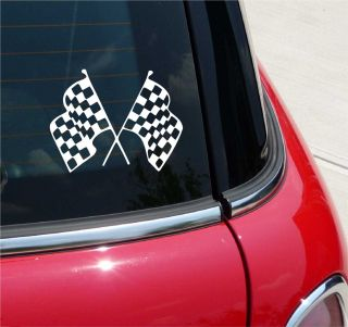 Checkered Flag Racing Graphic Decal Sticker Vinyl Car Wall