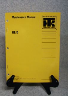 Thermo King re D R 12 Refrigeration Maintenance Manual