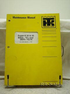 Thermo King Superii 30 Max TF Tgvi Maintenance Manual
