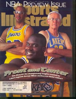 1996 Sports Illustrated Shaquille O'Neal Kareem Abdul Jabbar George Mikan Lakers