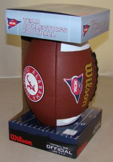 Alabama Crimson Tide NCAA Composite Leather Full Size Logo Football