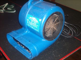 Tempest Dry Air Carpet Floor Dryer Squirrel Cage Fan 2 Speed 4 HP Works Great
