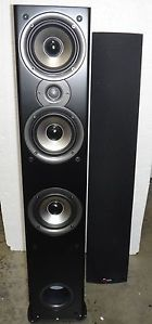 Two Way Ported Floorstanding Loudspeaker Black Polk Audio MONITOR60 Series II Single 747192120481