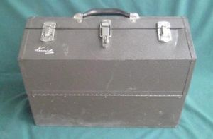 Vintage Kennedy Machinist Tool Box Cantilever Chest Fold Out Tray Fishing Tackle