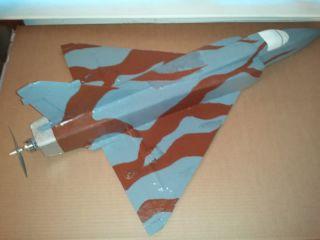"RC Jet Airplane Kit Mirage 2000 Foam Parkjet 24"" Wing Fast Easy Build"