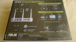 Asus RT N16 300 Mbps 4 Port Gigabit Wireless N Router DD WRT DDWRT 2 USB Ports