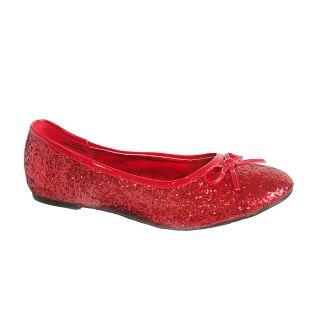 Funtasma Star 16 Red Glitter Ballet Flats Ruby Slippers Rockabilly Dorothy