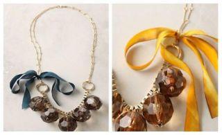 New Anthropologie Frozen Globes Necklace
