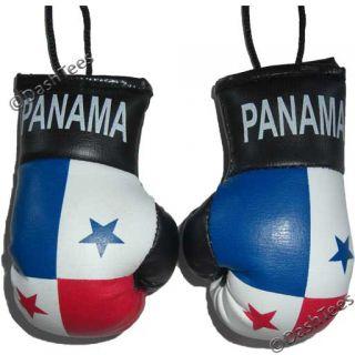 Panama Mini Punch Boxing Gloves Flag Car Mirror Mascot