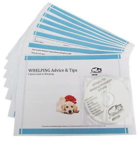 Dog Breeding Whelping Box Kit Puppy Forms Pack CD