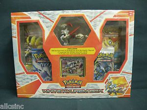 White Kyurem Box Pokemon Trading Card Game 1 Foil 4 Booster Packs Figure