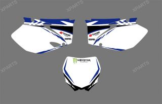 Team Graphics Backgrounds Decals Stickers Yamaha YZ250F YZ450F 2006 2007