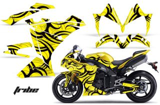 AMR Racing Graphics Decal Wrap Kit Yamaha R1 Street Bike 2010 2012 Tribe Yell