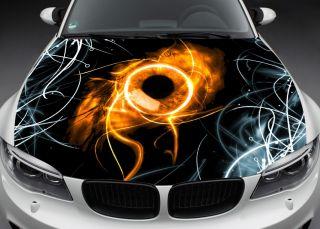 Car Color Vinyl Sticker Decal Hood Toyota Flame Eye K15