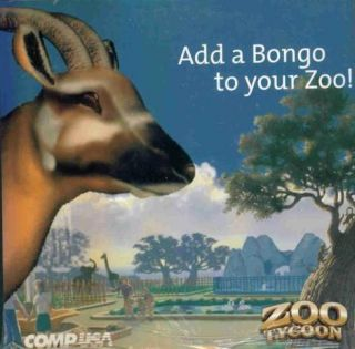 Zoo Tycoon w Bonus Animal Bongo CD PC Park Sim Game