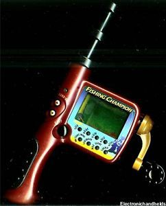 Excalibur electronic double 6 dominoes hand held lcd game for Electronic fishing game