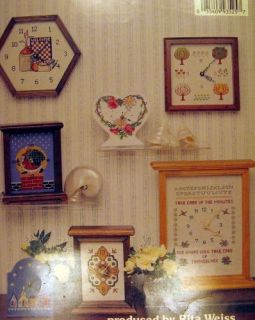 Cross Stitch Pattern Booklet Clock Faces Floral Sampler