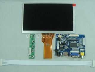 HDMI VGA 2AV Driver Board 7inch 800 480 AT070TN93 EJ070NA 03A 3mm Thickness LCD