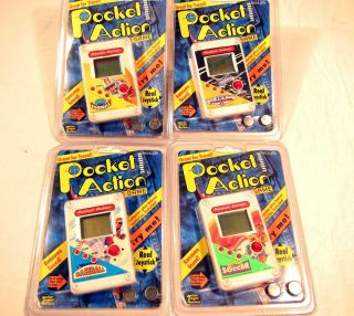 Lot 4 Pocket Action LCD Arcade Games Baseball Jet Fighter Micro Game of America