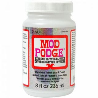 Mod Podge Decoupage Glue Sealer 8 oz Extreme Glitter