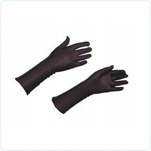 Black Stretch Gloves Flower Hijab Abaya Sleeves Muslim
