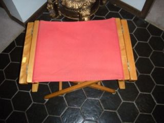 ... Vintage Telescope Director Chair Red Folding Boat Chair Canvas Solid  Wood Orange ...