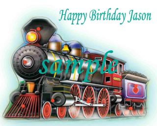 Steam Engine Trains Edible Cake Image Click 2c All