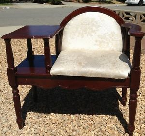Gossip Bench Chair with Table Chair and Phone Table