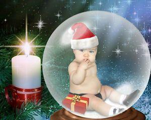3 Christmas Snow Globes Digital Backgrounds Backdrops Props Children Pets SNOWG2